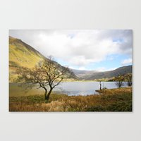 Cregennen Lake, Snowdoni… Canvas Print