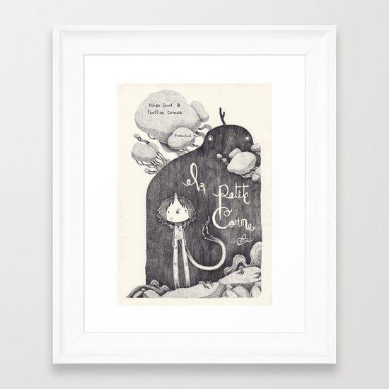 la petite corne  Framed Art Print