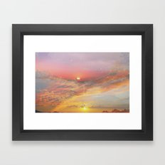 Sunrise & Sunset Framed Art Print