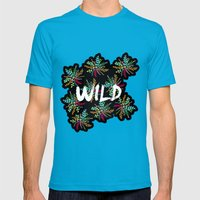 Wild Mens Fitted Tee Teal SMALL