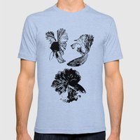 Beta Fish Lavender Mens Fitted Tee Tri-Blue SMALL