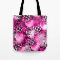 Light Bulb Hearts Series (pink) Tote Bag