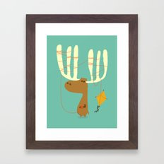 A Moose Ing Framed Art Print