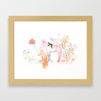 April Dream Framed Art Print