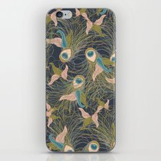 Peacock Feathers and Art Deco Print iPhone & iPod Skin