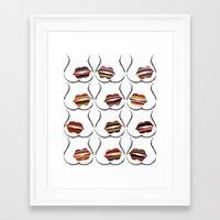 Kiss It! Framed Art Print