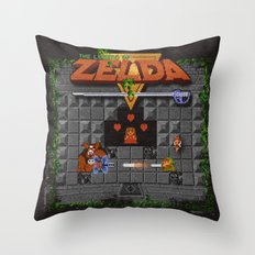The Zelda of Legend Throw Pillow