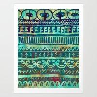 Noni- Green Art Print