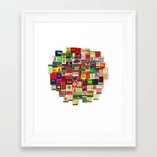 82 Matchbooks Framed Art Print