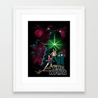 Time Wars Framed Art Print