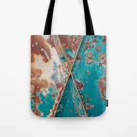 Teal and Rust Tote Bag