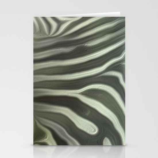 Zebra grazing Stationery Card