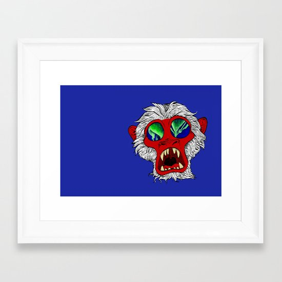 """Arctic Monkey"" by Virginia McCarthy Framed Art Print"