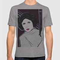 Princess to the Stars Mens Fitted Tee Athletic Grey SMALL