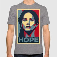 Hunger Games - Hope Mens Fitted Tee Tri-Grey SMALL