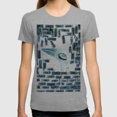 Alone Womens Fitted Tee Tri-Grey SMALL