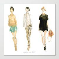 Fashion Sketch - Philip Lim Spring 2011 Canvas Print