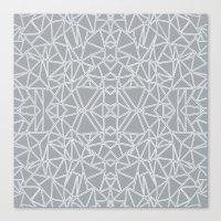 Ab Blocks Grey #3 Canvas Print