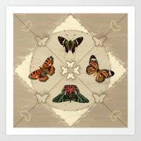 Butterfly Code Art Print