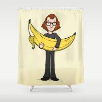 Woody's Banana Shower Curtain