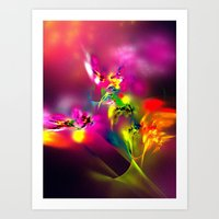 Flamboyant Bouquet Art Print