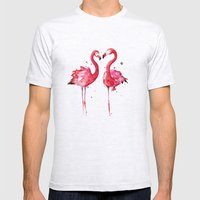 Flamingo Mens Fitted Tee Ash Grey SMALL