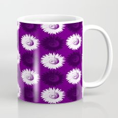 Sunflower black, white and purple Mug