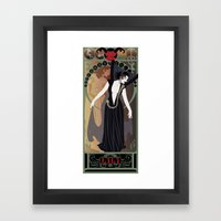 Dark Lili Nouveau - Lege… Framed Art Print