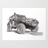Jeep Art Print