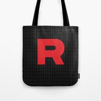 Team Rocket Minimal R Design Pocket Monsters Poke Mon  Tote Bag