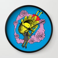 Kiss Of Night And Day Wall Clock