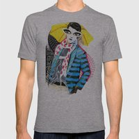 ::Man In The Rain:: Mens Fitted Tee Athletic Grey SMALL