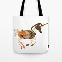 Steampunk Unicorn Tote Bag