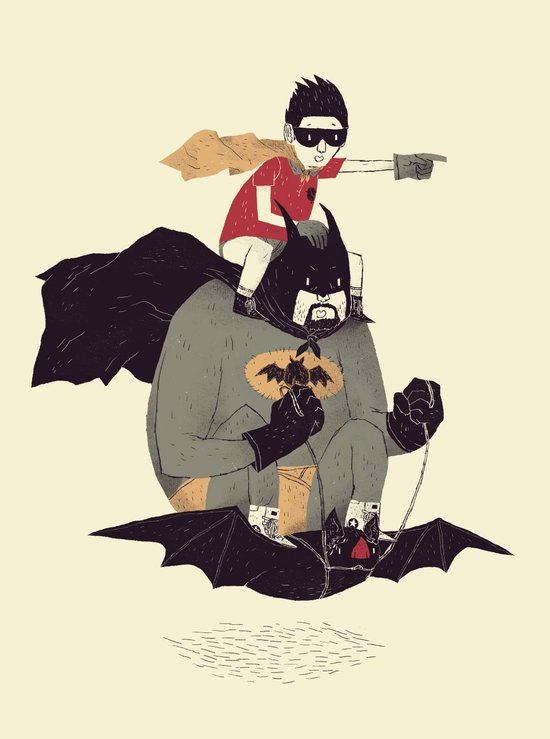 to the batmobile! Art Print