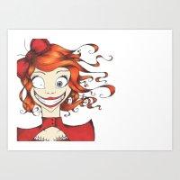Little Mad Alice Art Print