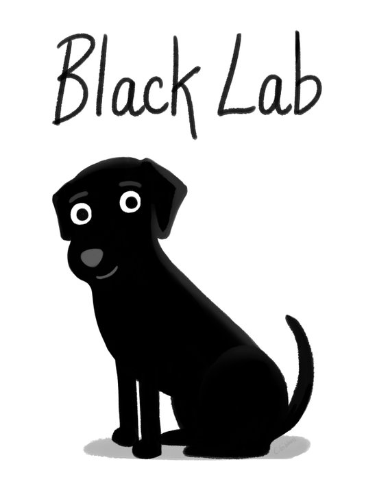 Black Lab - Cute Dog Series Art Print