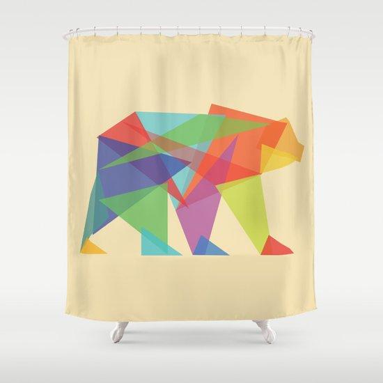 Fractal Geometric bear Shower Curtain