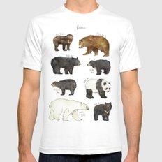 Bears Mens Fitted Tee SMALL White
