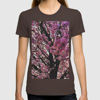 Spring tree Womens Fitted Tee Brown SMALL