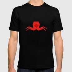 Origami Crab SMALL Black Mens Fitted Tee