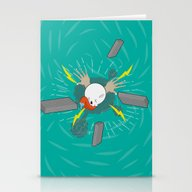 Stationery Cards featuring Pull The Flight by Production6