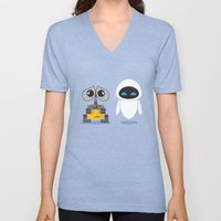 Wall-E And Eve Unisex V-Neck