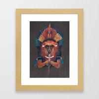 Red Fire Monkey Framed Art Print