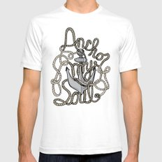 Anchor My Soul White SMALL Mens Fitted Tee