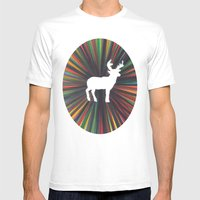 young deer Mens Fitted Tee White SMALL