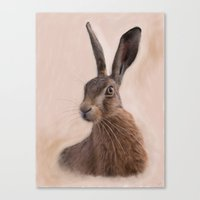 Eostre - The Hare Goddess  Canvas Print