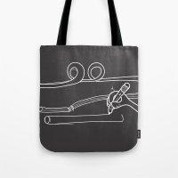 Drawing Straws Tote Bag