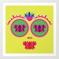 Indian face Art Print