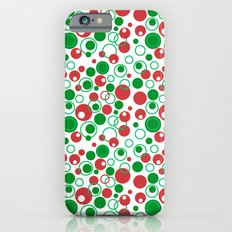 Circle Pattern Holiday Red Green and White iPhone 6 Slim Case