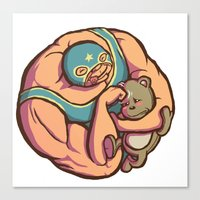 Baby Bully Canvas Print